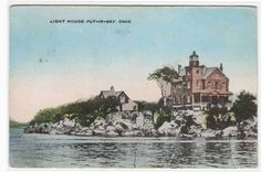 Lighthouse Put in Bay Ohio 1911 postcard