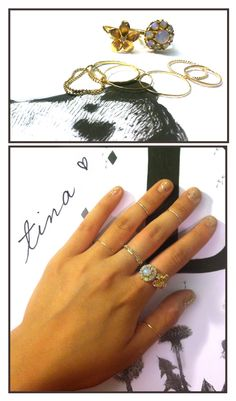 Fancy fingers! First Knuckle Rings, Twisted Stackers, Threadbares, Chain Rings and a Boom Boom Pow mani.