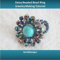 Daisy Beaded Bead Ring - via @Craftsy