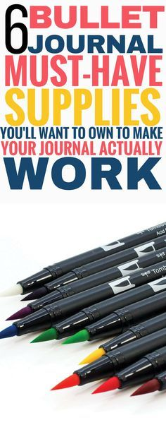 These must-have bullet journal supplies are THE BEST! I'm so glad I found this list, now I can find some amazing bullet journal supplies that actually make sense and can help me use my journal more effectively! Pinning this for sure! #bulletjournal #bulletjournaling #bulletjournaljunkies #bulletjournallove #productivity #organization