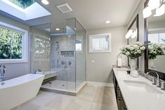 Remodel small bathroom with tub small bathroom tub shower remodel small bathroom remodel tub to shower Small Bathroom With Tub, Bathroom Tub Shower, Modern Master Bathroom, Bathroom Design Small, Bathroom Ideas, Bathroom Designs, Shower Mirror, Ikea Bathroom, Hall Bathroom