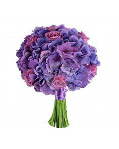 Buchet de mireasa cu hortensia BM207 - Floraria Iris