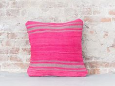 Striped berber pillow 79 by thesouks on Etsy https://www.etsy.com/listing/465366293/striped-berber-pillow-79. Moroccan cushion