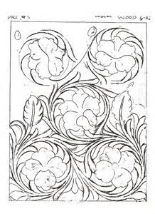 Drawing Sheridan Style Patterns 的图像结果 Leather Tooling Patterns, Leather Pattern, Purse Patterns, Style Patterns, Flower Patterns, Leather Working Tools, Tandy Leather, Leather Stamps, Wood Carving Patterns