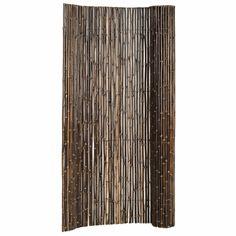 Zwart gelakte bamboe schutting op rol bamboe schutting maken