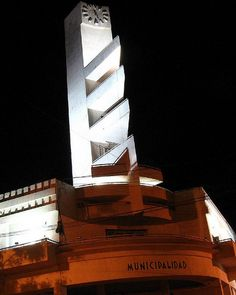 Argentinian Art Deco Town Hall designed by Francisco Salamone (1897-1959)