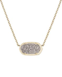 Everyday wear Elisa Pendant Necklace in Platinum Drusy - Kendra Scott Jewelry. Coming July Cute Jewelry, Jewlery, Jewelry Accessories, Fashion Accessories, Jewelry Necklaces, Gold Jewellery, Bracelets, Jewelry Box, Kendra Scott Necklace