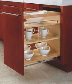 Rev-A-Shelf: Take your kitchen cabinet organization to a new level with the Wood Pull-Out Cabinet Organizer For Kitchen Cabinets by Rev-A-Shelf. Kitchen Cabinet Organization, Kitchen Storage, Cabinet Organizers, Cabinet Storage, Pantry Storage, Cabinet Ideas, Closet Storage, Kitchen Pantry, Spice Rack Insert