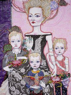 Del Kathryn Barton: Mother (a portrait of Cate):: Archibald Prize Art Gallery NSW. This is a self portrait by a contemporary Australian artist. Contemporary Australian Artists, Australian Painting, Anselm Kiefer, Richard Burlet, Del Kathryn Barton, Neo Rauch, Most Popular Artists, Vincent Van Gogh, Gustav Klimt