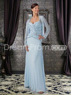 A-Line Sweetheart Dropped Waist Sleeveless Floor-Length Mother of the Bride Dresses