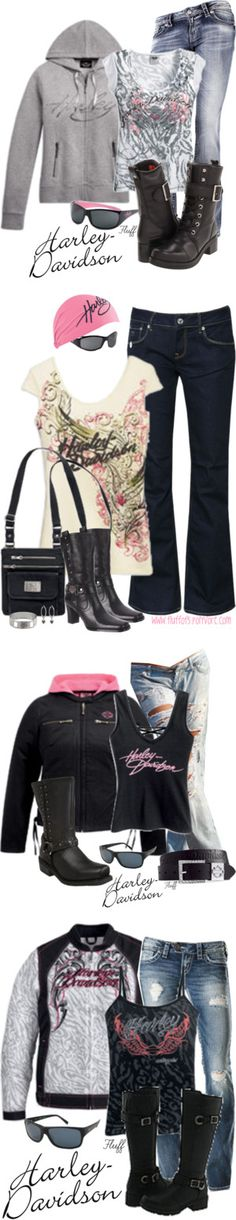 """Biker Babe"" by fluffof5 on Polyvore"