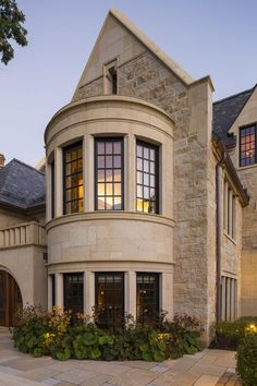 A Look at Murphy & Co's Exquisite Jacobean Manor in Minneapolis, MN Minneapolis, Minnesota, United States Architectural firm Murphy & Co worked closely with Anderson Residential Architecture, Architecture Design, Minnesota, Gate House, French Country House, Exterior Design, Stone Exterior, Building A House, New Homes