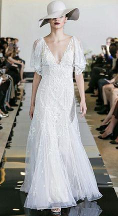 Justin Alexander Spring 2018 Wedding Dresses — New York Bridal Fashion Week Runway Show White Wedding Gowns, Bohemian Wedding Dresses, Best Wedding Dresses, Bridal Dresses, Sophisticated Bride, Elegant, Justin Alexander Bridal, A Line Gown, Bridal Fashion Week