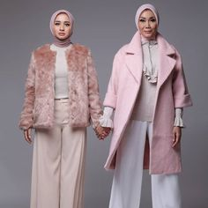 THE HIJABBERS  Laudya Cinthya Bella and Okky Asokawati @laudyacinthyabella and @okkyasokawati  photographed by @ronibachroniphotography styled by @alvasusilo brushed by @bubahalfian outfit by H&M Taken by Canon EOS 1D X Location @kolbano_photolab