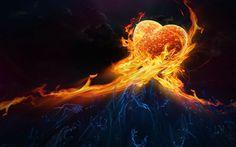 Fire Love Abstract HD Wallpaper Desktop #82828 #1159 Wallpaper ...