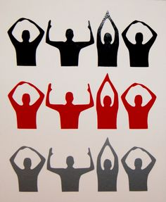 Ohio State Buckeyes O-H-I-O Silhouette Vinyl Decal for Cars, Walls & Much More. $4.00, via Etsy.