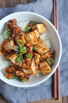 "Eggplant Mapo Tofu. Make one of your favorite Chinese food dishes at home! Just follow this recipe and you can adjust the amount of spiciness as desired. #spon #Chinesefood ""Passport To World Flavors"""