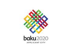 Logotipo de olimpiadas. Concepto de red