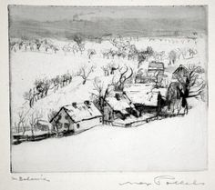 Max Pollack drypoint