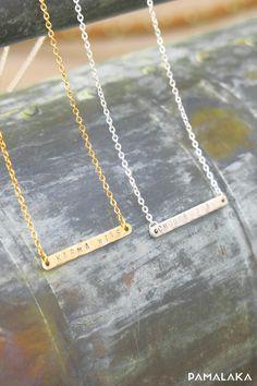 Collier à micro message - Acier Inoxydable plaqué or – PAMALAKA - Créateur de bijoux boho chic