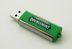 Wrigley's Doublemint Gum USB Drives. No one would think of stealing this.