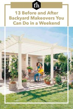 13 Before and After Backyard Makeovers You Can Do in a Weekend Diy Patio, Patio Ideas, Backyard Ideas, Garden Ideas, Deck Shade, Grill Gazebo, Natural Waterfalls, Outdoor Projects, Outdoor Tools
