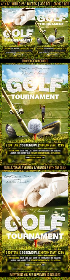 Golf Cup Tournament Flyer Template Print Pinterest Flyer - golf tournament brochure