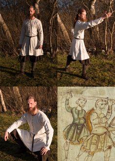 Frankish/Frisian tunic year 900-1000. 100% hand sewn by Henrik Nordholm
