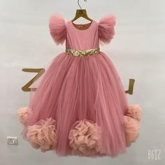 Baby Girl Dresses Diy, Baby Pageant Dresses, Girls Dresses, Dresses For Children, Flower Girl Dresses, Baby Tulle Dress, Baby Frocks Designs, Kids Frocks Design, 1st Birthday Girl Dress