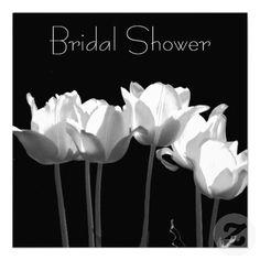 Tulips, B Bridal Shower Invitations