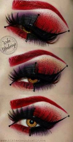 Harley Quinn inspired eye