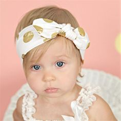 a37b824ccb051 Baby Infant Bronzing Dot Hair Band Girls Bowknot Headband Photography Props  Kids Accessories Bandeau Bebe Price