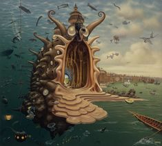 Google Image Result for http://iliketowastemytime.com/sites/default/files/Yerkaland-surreal-paintings-of-Jacek-Yerka-4.jpg