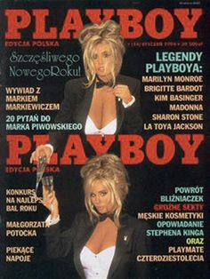 Playboy (Poland) January 1994  with Shane Barbi, Sia Barbi on the cover of the magazine