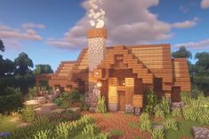 Cool Minecraft Houses - Ideas for Your Next Build! Minecraft Cottage House, Minecraft Starter House, Minecraft Small House, Minecraft House Plans, Minecraft Houses Survival, Cute Minecraft Houses, Minecraft House Tutorials, Minecraft House Designs, Minecraft Blueprints
