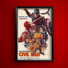 """Captain America: Civil War"" 2016. Artwork by: http://ift.tt/1M7yJa8"