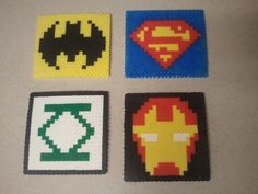 Superhero Coasters or Magnets.     Check out my etsy page: http://www.etsy.com/listing/93214703/super-hero-coasters-or-magnets