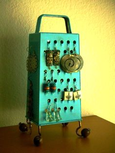 Kitchen Grater Earring Holder