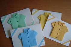 Baby Shower Cute Cards. Easy to fold t-shirts :)