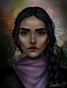 Inej Ghafa from Six of Crows duology art by morgana0anagrom