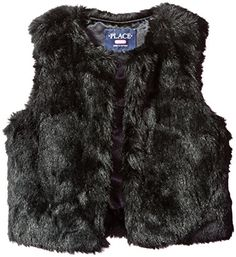 The Children's Place Girls' Big Girls' Faux Fur Vest, Black, L (10/12). Value-prices clothes and apparel that are fun and easy to put together. Faux fur vest.