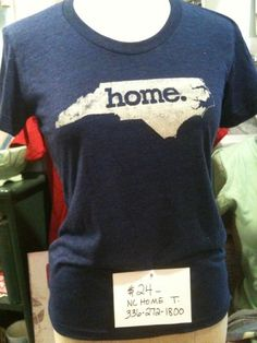 $24 indigo NC Home tshirt, female, we have mens as well..$29 with shipping
