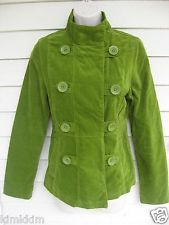 MOSSIMO green cotton velvet type fabric jacket/lined/Nice condition! WM