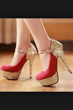 Pointed High Heel Court Shoes Bizare ELSA Classy Red