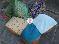 I need this for my meditation spot in the woods... Full Lotus Meditation pillow sample. $89.00, via Etsy.