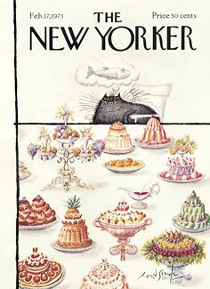 The New Yorker - Saturday, February 17, 1973 - Issue # 2505 - Vol. 48 - N° 52 - Cover by : Ronald Searle