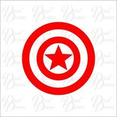 Captain America emblem Vinyl Car Decal, Avengers Ironman Hulk Thor Black Widow #DecalDrama