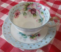 Antique Vintage Hand Painted Shafford Bone China Cup by naturepoet, $25.00