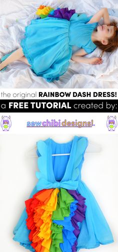 the original rainbow dash dress free DIY/ tutorial and pattern by sew chibi designs