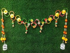 Door Hanging Decorations, Diwali Decorations At Home, Festival Decorations, Baby Shower Decorations, Flower Decorations, Decoration Crafts, Wedding Decorations, Art N Craft, Craft Stick Crafts